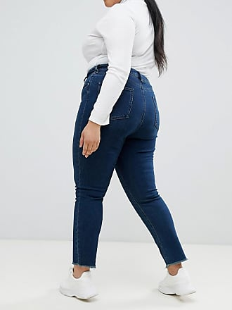 47ede31db7ba Asos Curve ASOS DESIGN Curve - Farleigh - Schmale Mom-Jeans mit hohem Bund  in