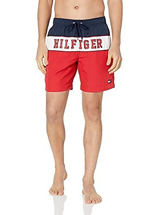 4656871885fc2 Tommy Hilfiger Mens Swim Trunks Long Inseam, Tango Red, XX Large