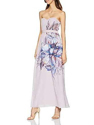 ab17e0af76 Little Mistress Corina Floral Bandeau Maxi Dress Vestito Rosa (Dusty Blush  001) 40 (