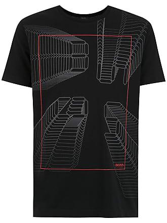 HUGO BOSS T-shirt com estampa - Preto