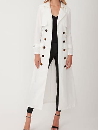 Torannce GADGET TRENCH LONG WHITE