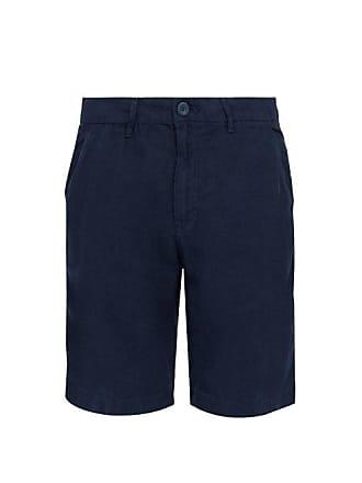Onia Austin Stretch Linen Shorts - Mens - Navy