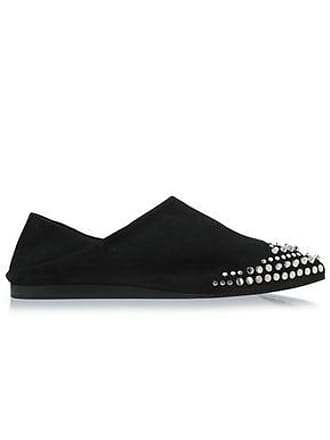 McQ by Alexander McQueen Mcq Alexander Mcqueen Woman Studded Suede Point-toe Flats Black Size 36