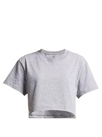 Hanes x Karla Hanes X Karla - The Crop Cotton Jersey T Shirt - Womens - Grey