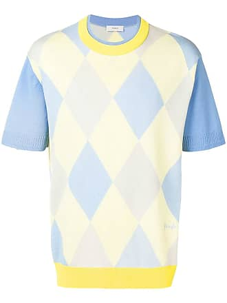 Pringle Of Scotland Intarsia argyle short sleeve jumper - Blue