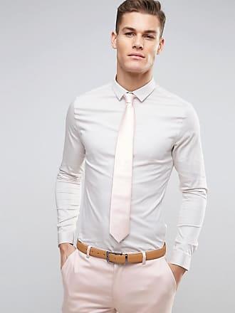ebf1f8da7a70d Asos Camisa de satén de corte slim en color hueso de ASOS DESIGN Wedding