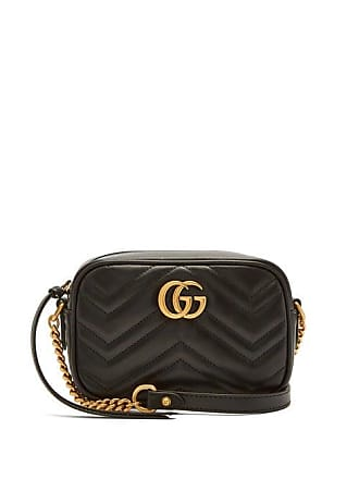 72bf01cdb Gucci Gg Marmont Mini Quilted Leather Cross Body Bag - Womens - Black