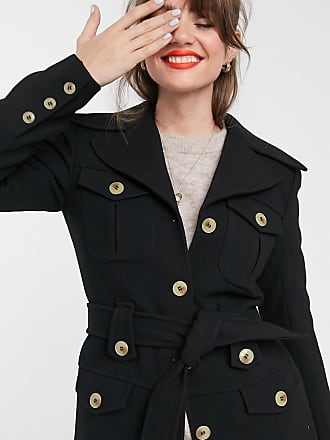 & Other Stories structured belted jacket in black