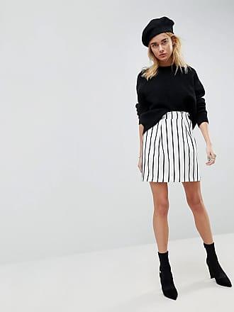 632e2cfb9b Asos ASOS Tailored Ruffle Paperbag Waist A-Line Mini Skirt In Stripe