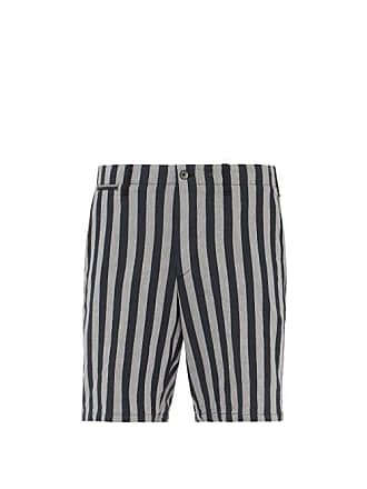 Rag & Bone Jacquard Stripe Herringbone Twill Bermuda Shorts - Mens - Black White
