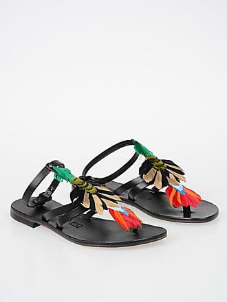 ÁLVARO GONZÁLEZ Feather Leather ARIANA Sandals size 38,5