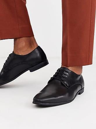 Topman Schwarze Derby-Schuhe
