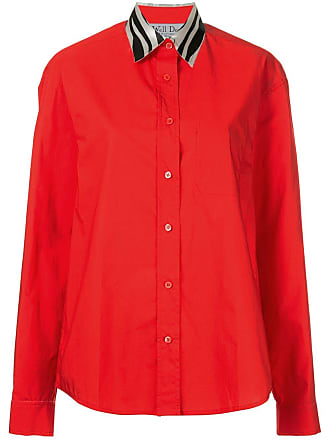We11done Camisa com contraste - Vermelho