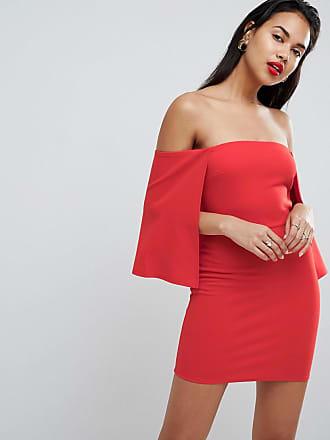 fcc6a7ccf5 Asos ASOS Crepe Bandeau Cape Mini Dress - Red