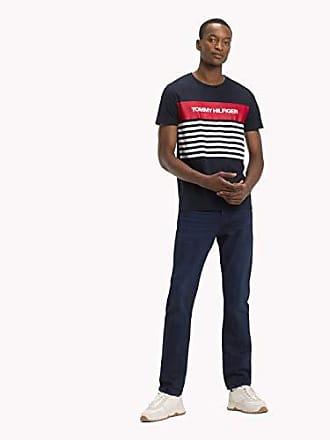 74045e604d09 Tommy Hilfiger WCC Colour Block Stripe Tee T- T-Shirt Bleu (Sky Captain