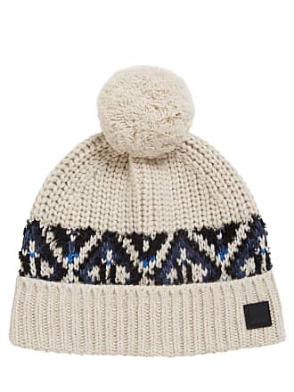 e8fe7506 BOSS Fair Isle beanie hat in a textured yarn blend
