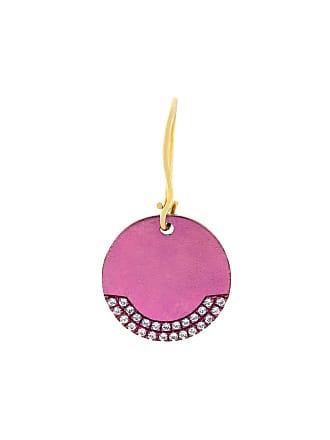 Eye M By Ileana Makri round plate earring - Rosa