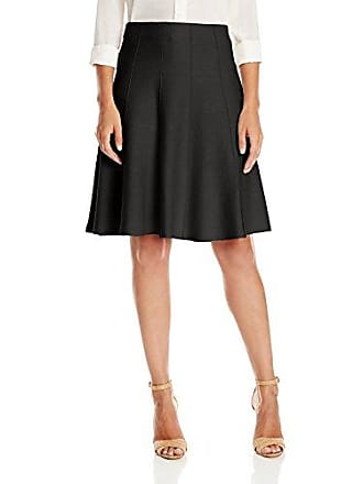 Nic+Zoe Womens Paneled Twirl Skirt, Black Onyx X-Small