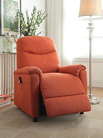 ACME 59346 Catina Recliner with Power Lift, Orange Fabric