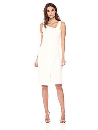 Betsey Johnson Womens Sleeveless Scuba Crepe Dress, Ivory, 6