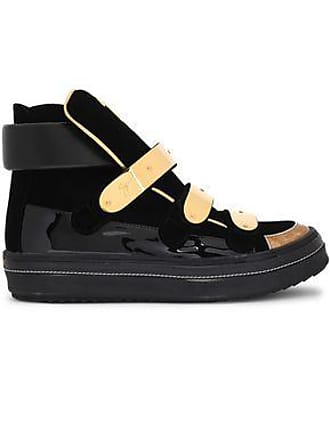 04a38a5d9e0be Giuseppe Zanotti Giuseppe Zanotti Woman Ace Patent-leather And Velvet High-top  Sneakers Black