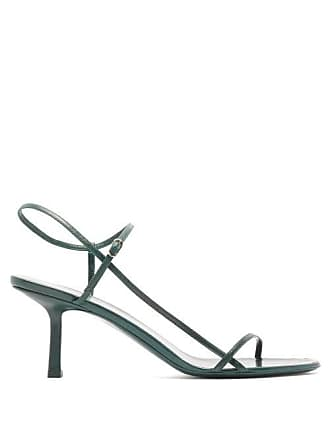 6d865a4a9b0ec The Row Bare Mid Heel Leather Sandals - Womens - Dark Green