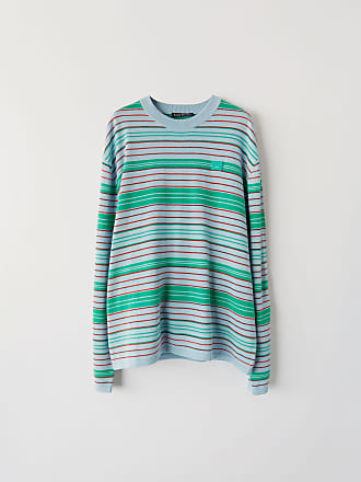 Acne Studios FA-UX-KNIT000006 Blue/brown/green Striped sweater