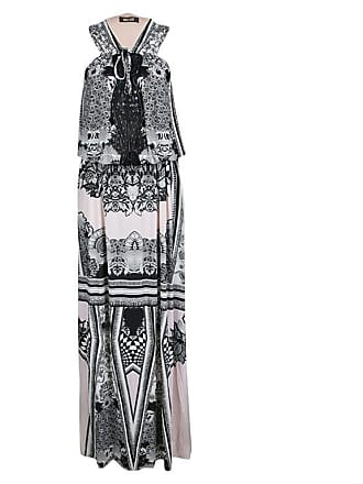 Roberto Cavalli Multicolor Printed Cutwork Neckline Detail Sleeveless Maxi  Dress ba3719e36