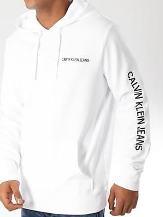 Calvin Klein Calvin klein - Sweat Capuche Institutional Chest Logo 9795  Blanc Noir 94145f4772e6