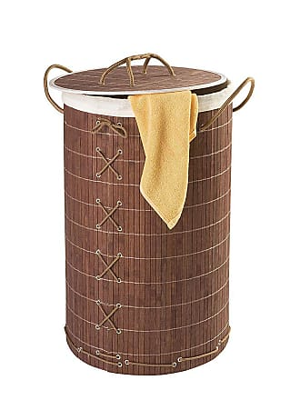 WENKO Cesta per i panni Bamboo, WENKO