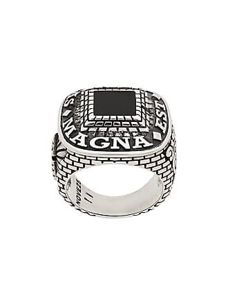 Nove25 Anel Masonic Magna Est Veritas - Prateado