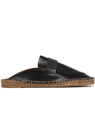 4a794f9f3 Brunello Cucinelli Brunello Cucinelli Woman Bead-embellished Leather  Espadrille Slippers Black Size 37
