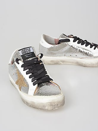 Golden Goose Leather Silver tone Sneakers size 35