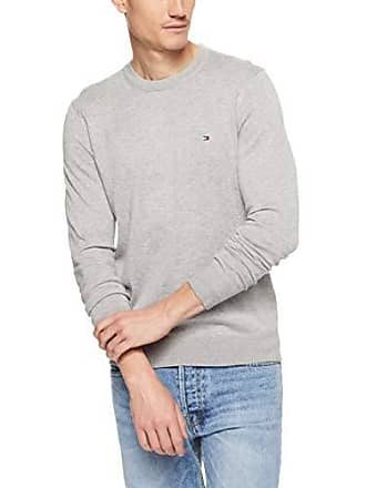 a6a754447 Tommy Hilfiger Mens Cotton-Silk Crew Neck Jumper, Cloud HTR, XX-Large