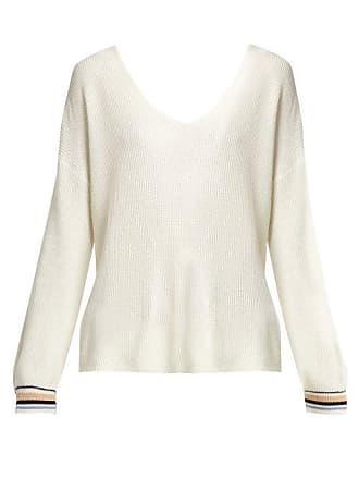 Skin Esme Intarsia Striped Cotton Blend Sweater - Womens - Ivory