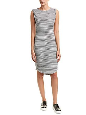 cupcakes and cashmere Womens Lorena Striped Knit Dress, Ink, Medium