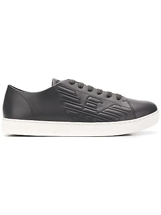 Emporio Armani logo embossed sneakers - Grey
