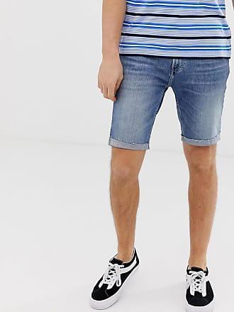 Hollister Eng geschnittene Jeansshorts in mittlerer Waschung-Blau