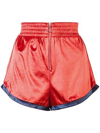Fleur du Mal zip front shorts - Yellow