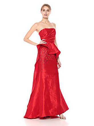 Mac Duggal Womens Asymmetrical Peplum Bustier Gown
