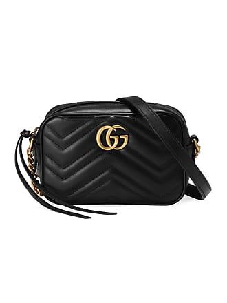5c55e7e108a Gucci Black GG Marmont Mini leather bag