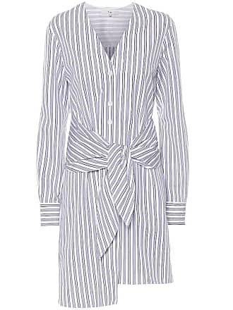 Tibi Pinstripe cotton dress