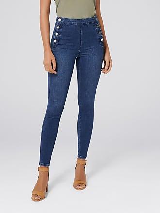 Forever New Heidi High-Rise Ankle Grazer Jeans - Spanish Blue - 10