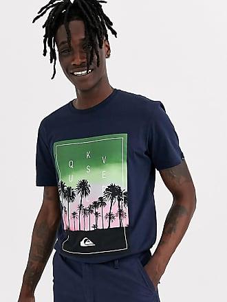 Quiksilver T-shirt nera con palma-Nero