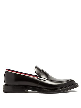 49959e5c3 Gucci Beyond Web Striped Embellished Leather Loafers - Mens - Black Multi
