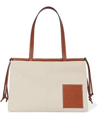 Loewe + Paulas Ibiza Cushion Large Leather-trimmed Canvas Tote - Beige