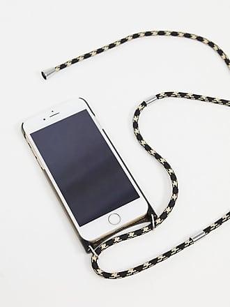 Monki phone necklace in black