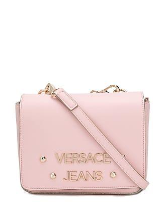 Versace Jeans Couture Bolsa transversal com logo - Rosa