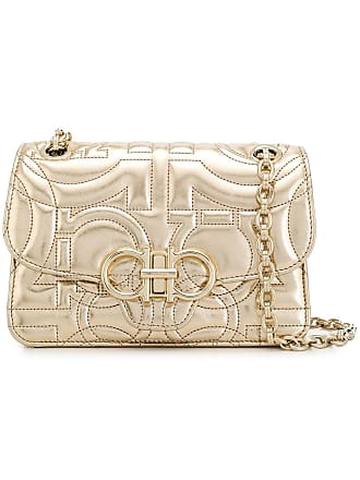a66f65dc37 Salvatore Ferragamo Gancini small crossbody bag - Gold