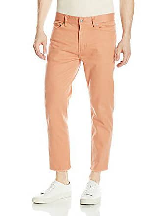 Obey Mens New Threat Flooded Twill Cut Pant, Rose, 38